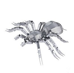 Wholesale DIY Wolf Spiders D Metal Model Miniature Sculpture Jigsaw Puzzle Desk Ornament D Puzzle DIY Model Beautiful Gift For Kid Adult