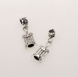 Wholesale Hot Antique Silver Corkscrew Wine Bottle Opener European Dangle Beads Gift fit Charms Bracelet x11mm mn21
