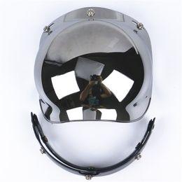 wholesale free shipping 3-snap vintage helmet bubbles shield visor glasses scooter jet lens open face motorcycle helmet visor glass