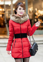 Wholesale-Promotion!2015 winter the fur collar coat long fat MM increased thickening of women's dress code down jacket coat free