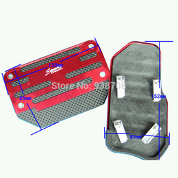 Wholesale Replacement Parts Pedals Universal Aluminum Automatic Series Pieces Red and Black Non Slip Car Pedal Cover Set Kit