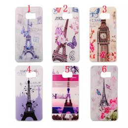 Wholesale Vintage Retro Printed Soft TPU with Eiffel Tower London Elizabeth Big Ben case for Samsung Galaxy S6 S6 Edge NOTE5 S6 edge PLUS