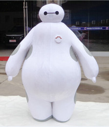 Wholesale 100 real images suit Big Hero Baymax Mascot Costume Cartoon Adult Size EMS