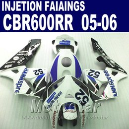 Purple white bodyworks! Injection Molding for HONDA CBR 600 RR fairing 2005 2006 cbr600rr 05 06 cbr 600rr custom fairing J7WE