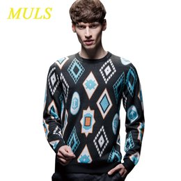 Wholesale The fashion leisure Sueter Full O neck Sweater Preppy Style Acrylic Crocheted Muls Pullovers Factory direct sale brand name mens clothing