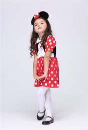Wholesale 2015 Halloween Costume For Girl Mickey Minnie Costume Party Cosplay Costume For Children Kids Clothes Halloween Costume Fantasia Fancy Dress