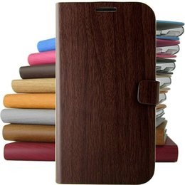 Wholesale Retro bamboo pattern PU Leather Full Body Case with Stand and for iPhone S Assorted Colors
