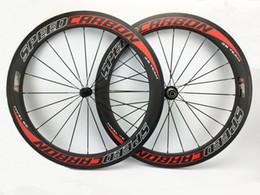 largeur route pleine de carbone vélo roues 60mm profondeur de 20.5mm les jantes de roues 700C piste de vélo de vélo prix de gros à partir de cyclisme vélos de prix de gros fabricateur