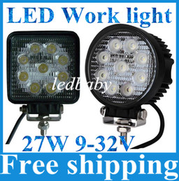 DHL Free LED Work Light 4Inch 27W work lamp 12V 24V Motorcycle Tractor Truck Trailer SUV Boat 4WD 4x4 offroad work light