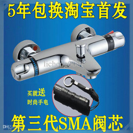 Wholesale cold and hot water heater mixing thermostatic bathtub faucet antique colored sink
