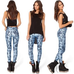 Wholesale Newest AD New Women Sexy D Blue Sea Sailing Item Printed Galaxy Pants Black Milk Space Leggings