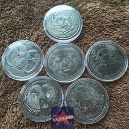Wholesale MONGOLIA TOGROG Gulo Ural Owl Hedgehog Argali Manul Wildlife animal Series oz Bronze plated Ant ique Coin set