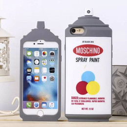 Wholesale 2015 Newest Fashion D Cute Luxury Soft Silicone Spray Paint Can Bottle Back Case Cover For iphone S G S iphone6 plus