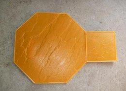 Polyuréthane plastique en Ligne-Plancher moulé en plastique moule en plastique impression en relief Parc de la décoration de la surface carrée moulure de pavés Mousse de polyuréthane produit en polyuréthane