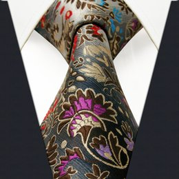 Wholesale P12 Fashion Floral Pattern Multicolor Mens Ties Necktie Silk Extra Long Size New Jacquard Woven