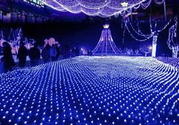 Promotion rgb led net Nouveau 8 * 10m LED net lumière LED clignote des lampes Net lumière étanche série de la lampe grande lumière de Noël net