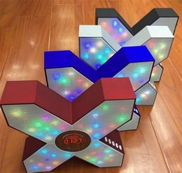 Wholesale X cool styling colorful flashing lights Bluetooth speakers overweight bass sound S1 speaker