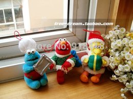 Wholesale cm Discount SesameStreet commemorative models Sesame Street Christmas ornaments Elmo Cookie Big bird