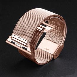 2017 bandas de acero inoxidable enlaces 1: 1 correa de pulsera original Enlace Milanese Loop correas de reloj banda de acero inoxidable de 38 mm reloj de manzana / 42mm correa de reloj barato bandas de acero inoxidable enlaces
