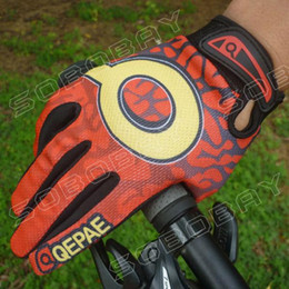 Gants dirt bike à vendre-Gants en gros-New GEL Bike Bicycle Motocross Full Finger Riding Dirt Bike BMX Cyclisme VTT Gants-Rouge