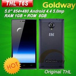 Wholesale THL T6S quot MT6582 Quad Core Mobile Phone JDI Android MP Camera GB RAM GB ROM G WCDMA Ultra thin Dual SIM AGPS