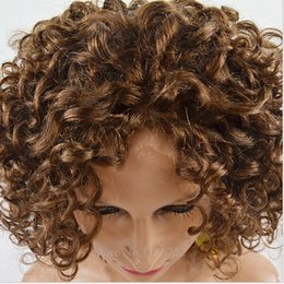 Blonde Kinky curly hair Short bob lace front wigs Sexy virgin brazilian hair Wigs Indian Human Hair Lace WIgs BIGSALE for black woman