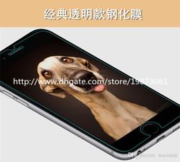 Descuento iphone vidrio de alta calidad 0.3mm para la prueba de cristal templada de la explosión del protector de la pantalla del iPhone 5S 6 para el iphone 6 4.7 con la alta calidad del paquete al por menor