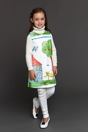 Wholesale Wlmonsoon Baby Girls Dress Winter Girls Dresses Children Dobby European Designer Princess Baby Dress Kids Clothing Age Years
