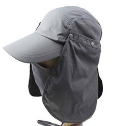 Wholesale Cycling Protective Gear Summer outdoor riding full surround insect jungle fisherman fishing hat sun visor hat UV Cycling Caps