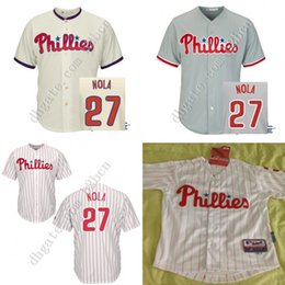Wholesale Cheap Authentic Youth Philadelphia Phillies Jersey boys Aaron Nola Kids Baseball Jerseys Kids Children all stitched size S XL