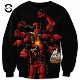 Wholesale OPCOLV New Arrival New Design Deadpool Arsenal Crewneck Women Men Fashion D Sweatshirt Cartoon Deadpool Hoodies Outerwear