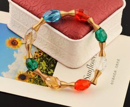 Wholesale Fashion polymer clay bracelets Bohemian beaded bracelets Kid s gift Crystal bracelet