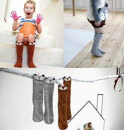 baby knee high fox socks animal baby leg warmers girl legging socks knee pads for baby cotton kids long socks free fedex shipping