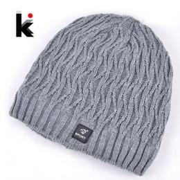 Wholesale-2015 bonnet winter mens Skullies designer hat outdoor ski mask knitted wool hat men cap beanies plus thick velvet hats for men