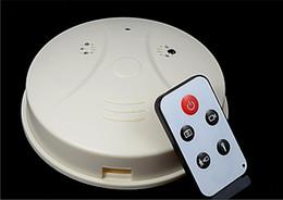 Wholesale Smoke Detector Detection Model Hidden Spy Camera DVR Camcorder DV Remote White HD Smoke DVR Online A0097