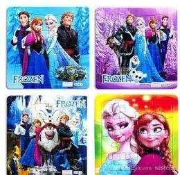 20 pcs Frozen Princess Elsa Anna Puzzle Children's educational toys Gift Free shipping