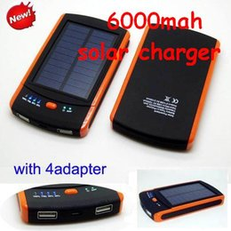 Wholesale 6000mah solar charger Dual USB Port s6000 mah power bank Waterproof s6000mah Solar Battery For Samsung S6 S5 S4 ipad iphone s plus