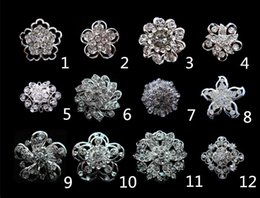 2015 Fashion Jewelry Newest Sparkly Silver Plated Small Size Clear Crystal Rhinestone Round Brooches and Pins