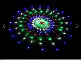 Decorative supplies background activity decoration supplies decorative supplies flash 1.5 * 1.5M 160LED spider webs lamp AC110V-250V