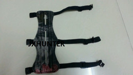 1PK camo 8.5 inches 3 Strap Leather Shooting Archery Arrow Arm Guard Protection Safe Guard Hunting