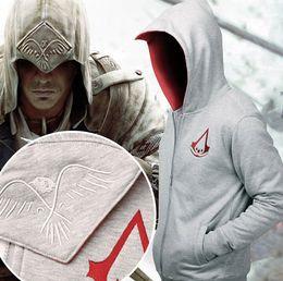 Descuento capas superiores del traje Nuevo Assassin's Creed III 3 Conner Kenway Hoodie Top Coat Chaqueta Traje de Cosplay