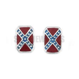 Free Shipping! Classic American Flag Earrings Stainless Steel Jewelry Fashion Cross star Motor Biker Men Women Earring SJE370144