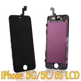 Iphone vidrio de alta calidad en Línea-Asamblea 100% del LCD de la pantalla de visualización del iPhone 5 5s 5c 5G de la alta calidad del 100% con el vidrio original del digitizador ninguÌ n pixel muerto que envía libremente