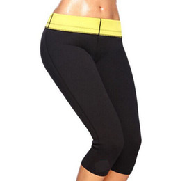 Wholesale Slimming Legs Shaper - NEW Saunafit Hot Thermal Slimming Workout Pants Leg Sweat Sport Body Shaper Free shipping