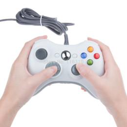 Venta caliente Blanco y Negro con cable USB del regulador del juego de Gamepad Joypad Joystick para Xbox 360 Slim de accesorios de ordenador PC para Windows 7 desde blanco xbox palanca de mando proveedores