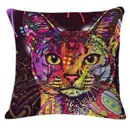 Wholesale Continental cat cotton cushion office IKEA sofa decorative pillow car lumbar pillow pillow
