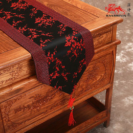 High Grade Chinese knot Luxury Decorative Banquet Table Runner Silk Brocade Patchwork Cherry blossoms Tea Table Cloth Multicolor