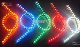 Luces del coche rojo en Línea-72 cm de tira 72 LED luces rojas del coche parrilla flexible impermeable de la bombilla de luz de coches ok