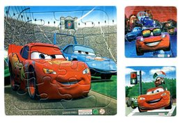 Wholesale Animated children s cartoon car puzzle Tri quality paper plane jigsaw puzzle one