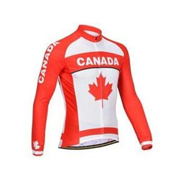 Wholesale 2014 New MONTON Men Canada Flag Long Sleeve Bicycle Jersey Bike Clothing Cycling Jersey MTB Wear For Male